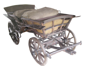 Crafted wooden cart