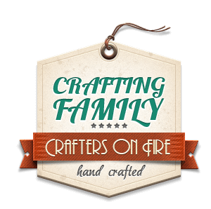 crafters on Fire retro badge